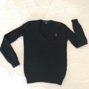 Ralph Lauren Sport v-neck cable sweater